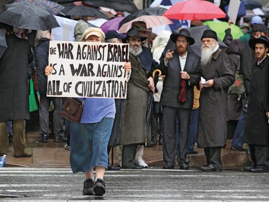 הפגנה פרו ישראלית ארהב / צלם: רויטרס